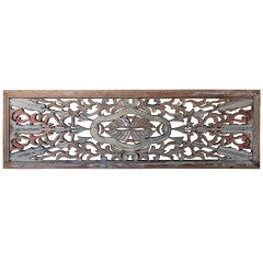 Antique wood carving wall hanging