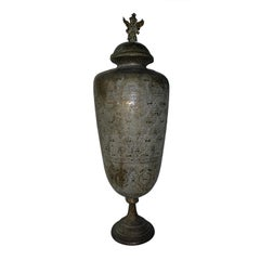 One Of A Kind Large Antique Brass Vase