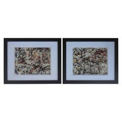Pair of 1980 Abstract Acrylic Paintings
