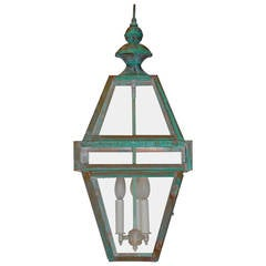 Four-Sided Architectural Hanging Lantern