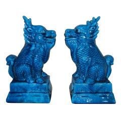 Pair of Unusual Ceramic  Foo Dogs