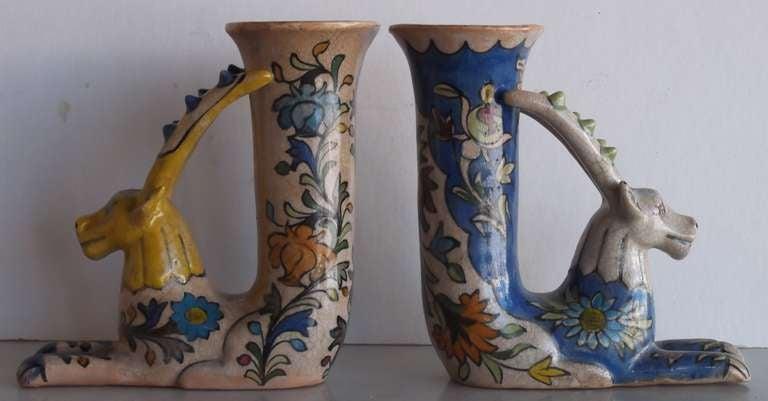 Pair Of Persian Ceramic Vessels At 1stdibs