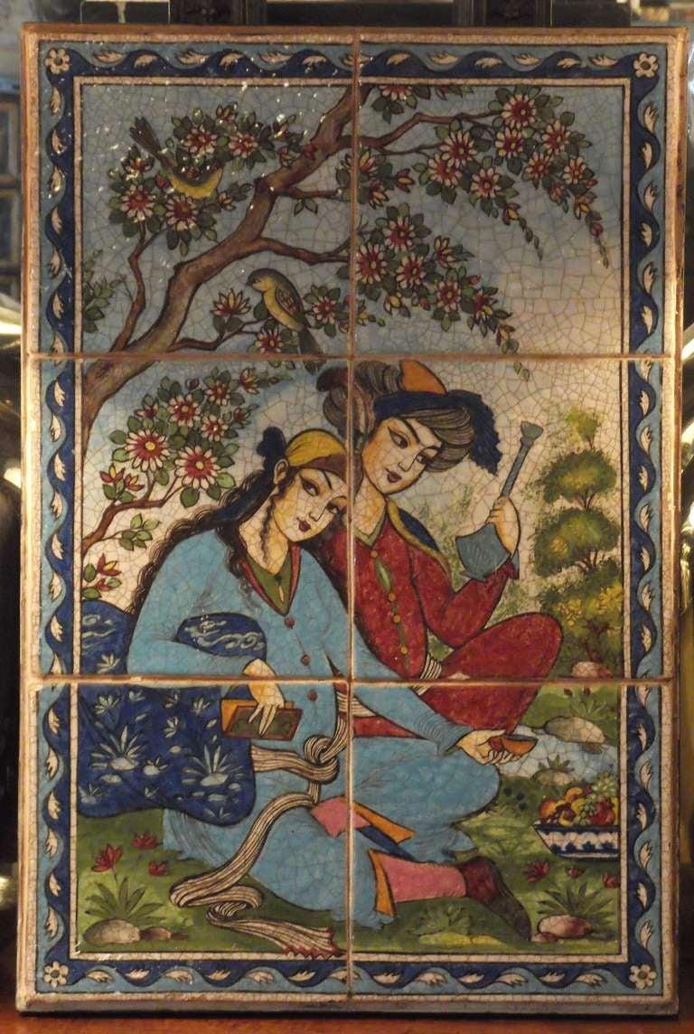 Persian Tile Wall Hanging At 1stdibs