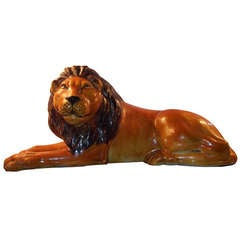 Terracotta Lion Sculpture