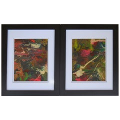 Pair of 1960s Abstract Paintings