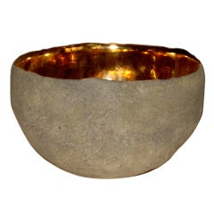 Round Vessel with Gold by Cristina Salusti