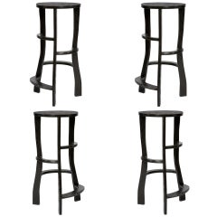 Hand Sculpted Bar Stools by Jacques Jarrige