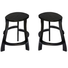 Pair of Hand Sculpted stools by Jacques Jarrige