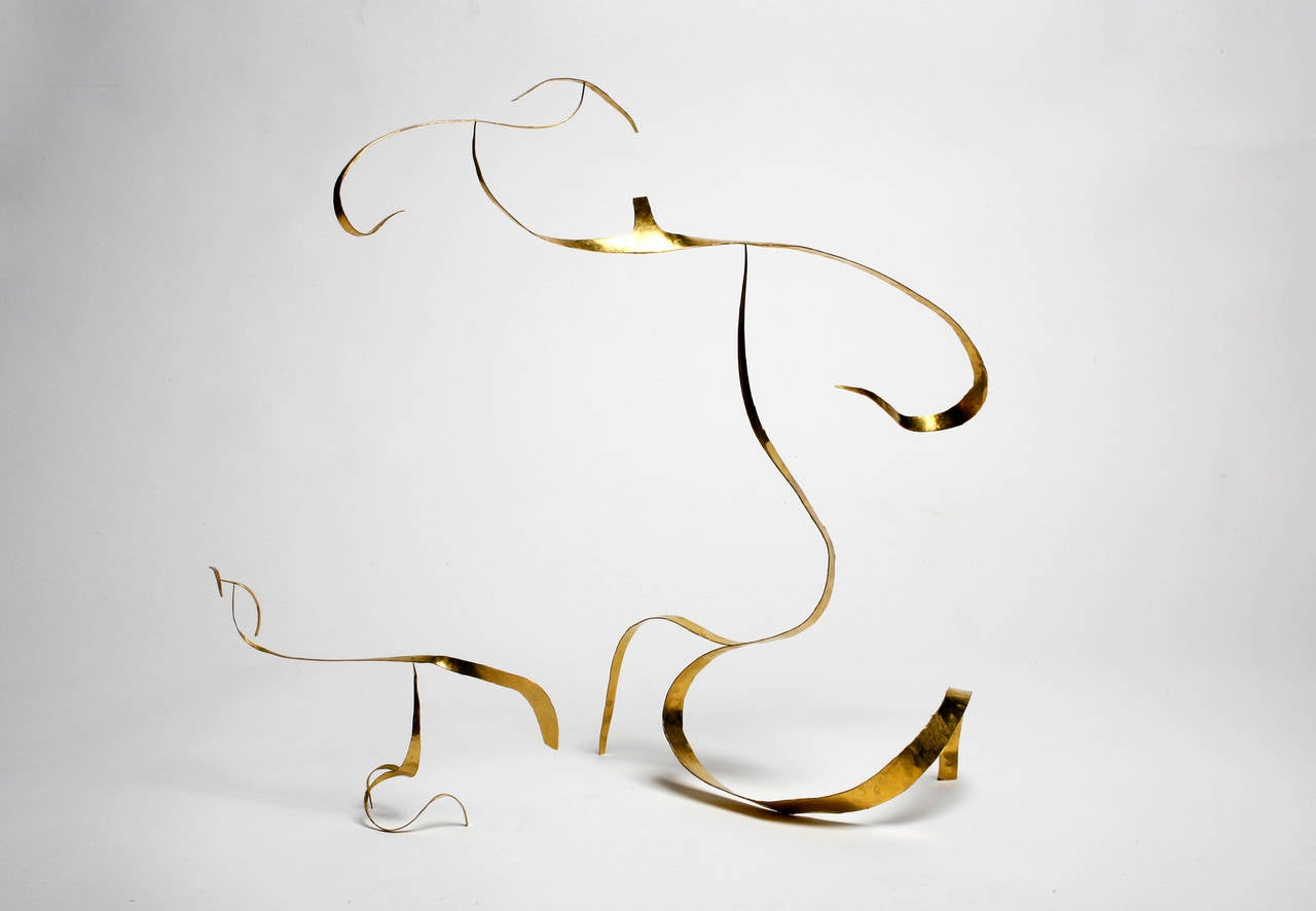 Hammered Stabile Sculpture by Jacques Jarrige, 2014 For Sale