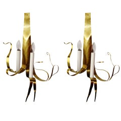 Pair Of  Wall Sconces By Jacques Jarrige