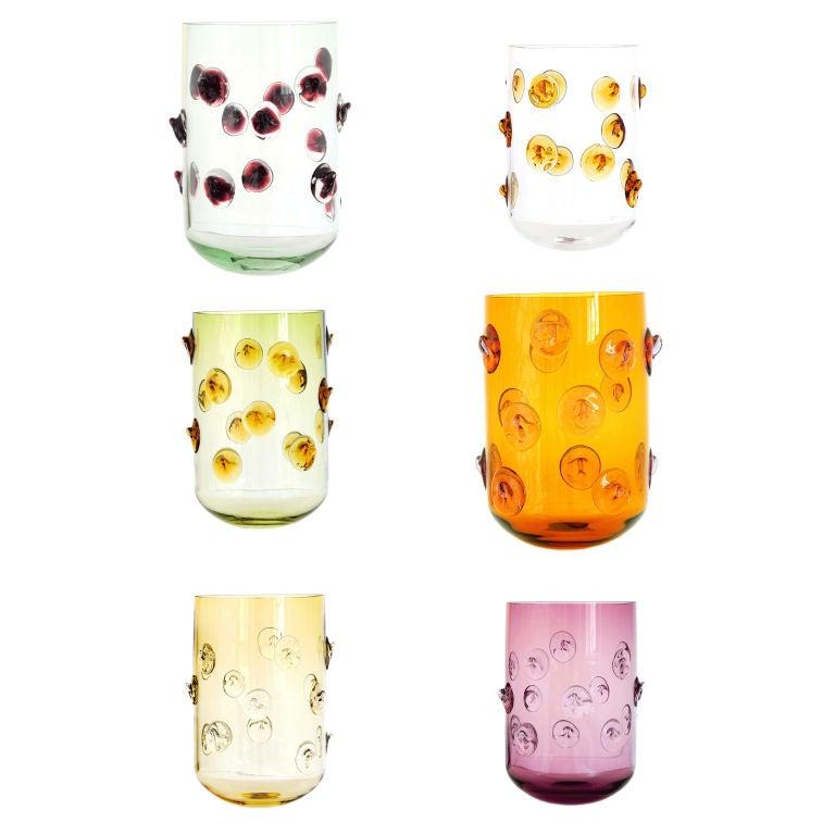 Hand-Blown Bohemian GLASS Vases
