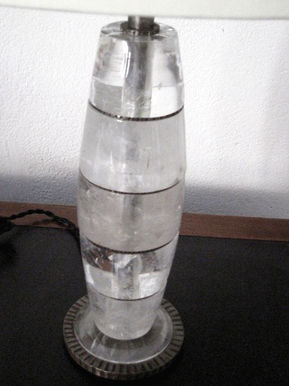 Pair of Genuine Rock Crystal Lamps For Sale 1