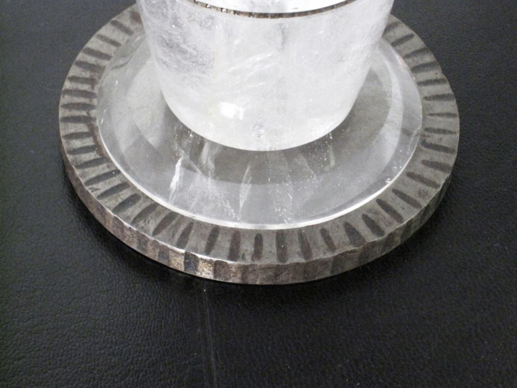 Pair of Genuine Rock Crystal Lamps For Sale 2
