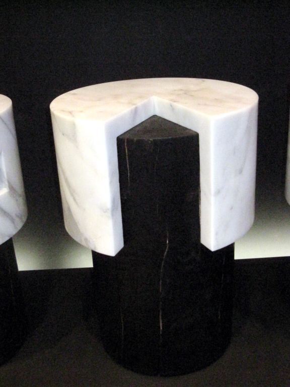 Statuary Marble Stools / Tables by Stephane Parmentier For Sale