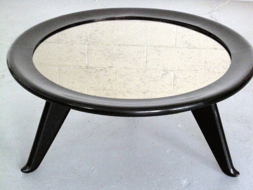 Large Round Coffee Table by Maurice JALLOT 4