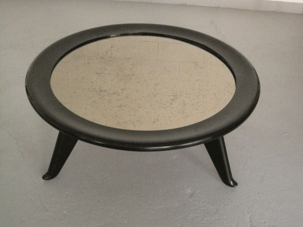 Large Round Coffee Table by Maurice JALLOT 5