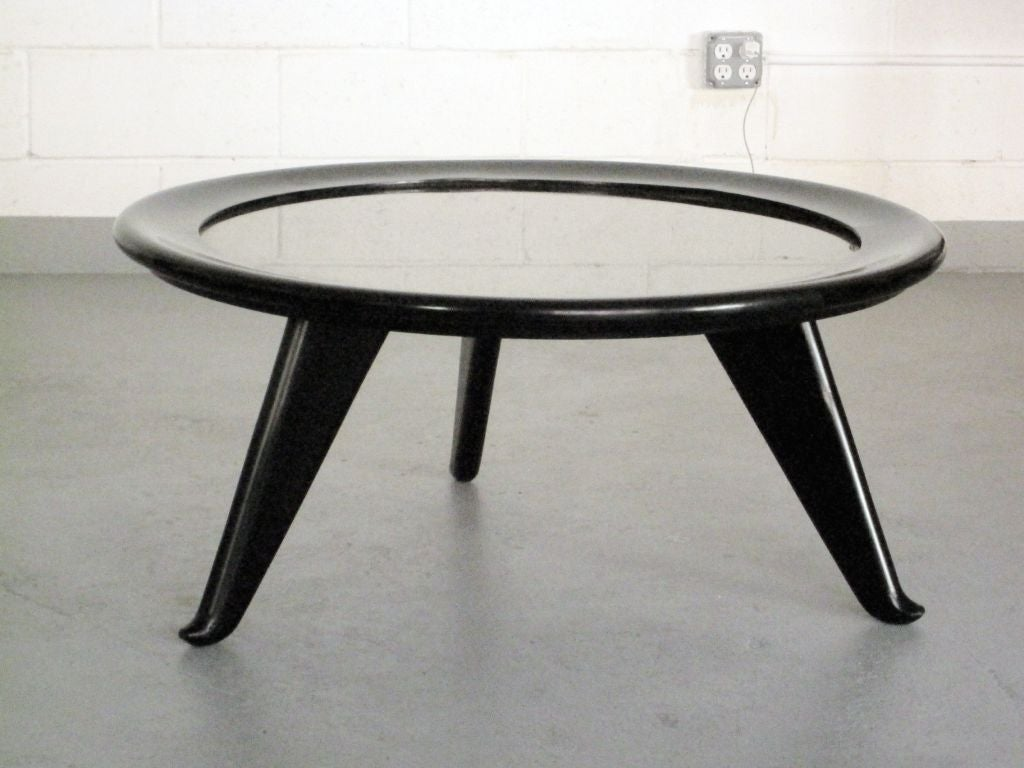 Large Round Coffee Table By Maurice Jallot At 1stdibs