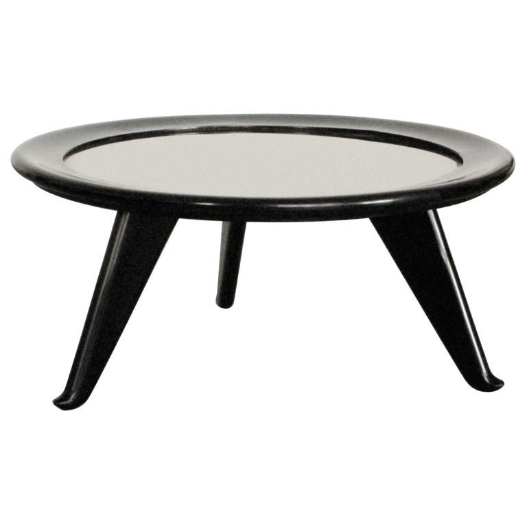 Large Round Coffee Table By Maurice Jallot For Sale At 1stdibs