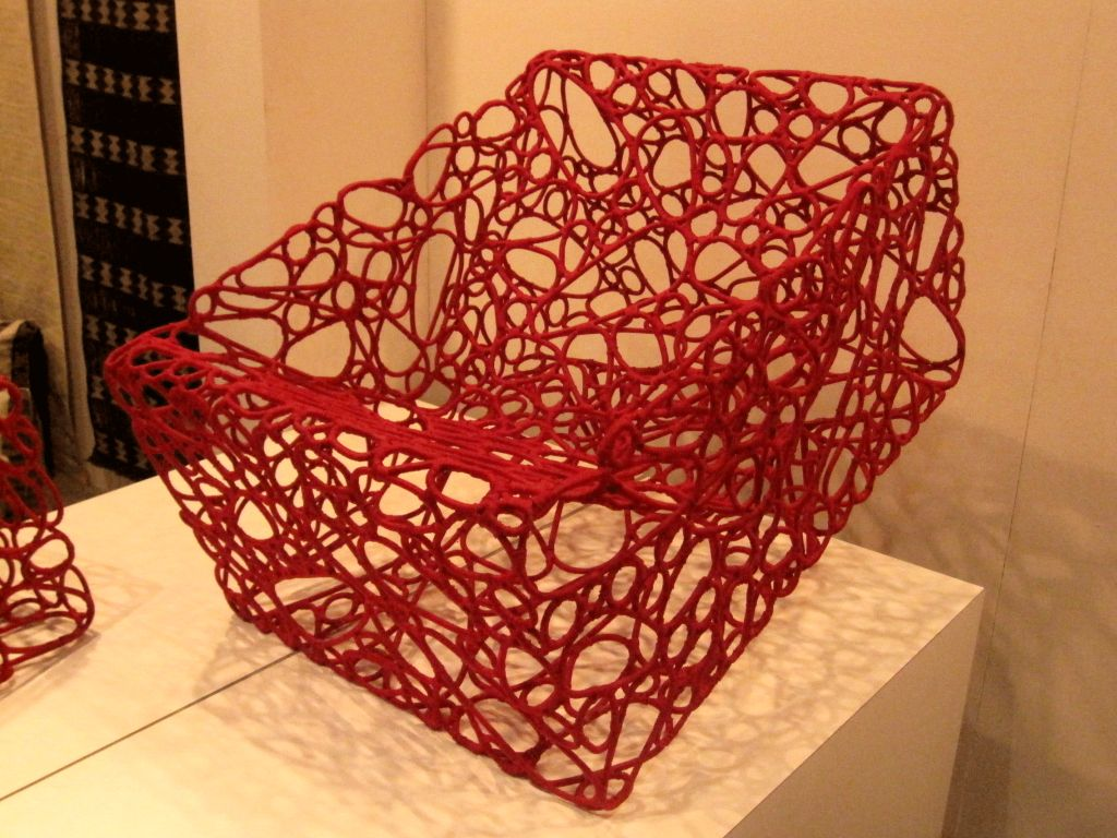 Metal Handwoven Artist Chair by Cheik Diallo For Sale