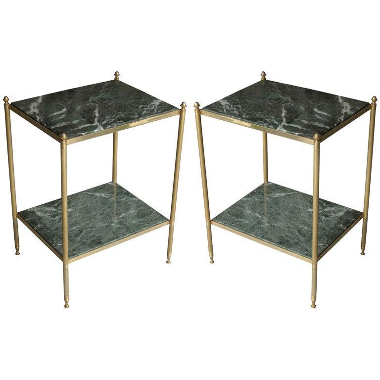 Elegant Pair of Side Tables