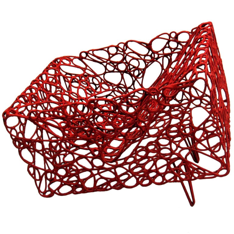 Handwoven Artist Chair by Cheik Diallo For Sale