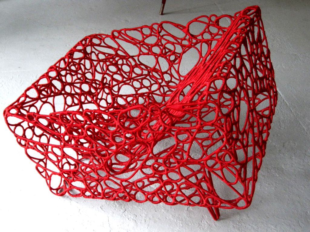 Handwoven Artist Chair by Cheik Diallo In Excellent Condition For Sale In New York, NY