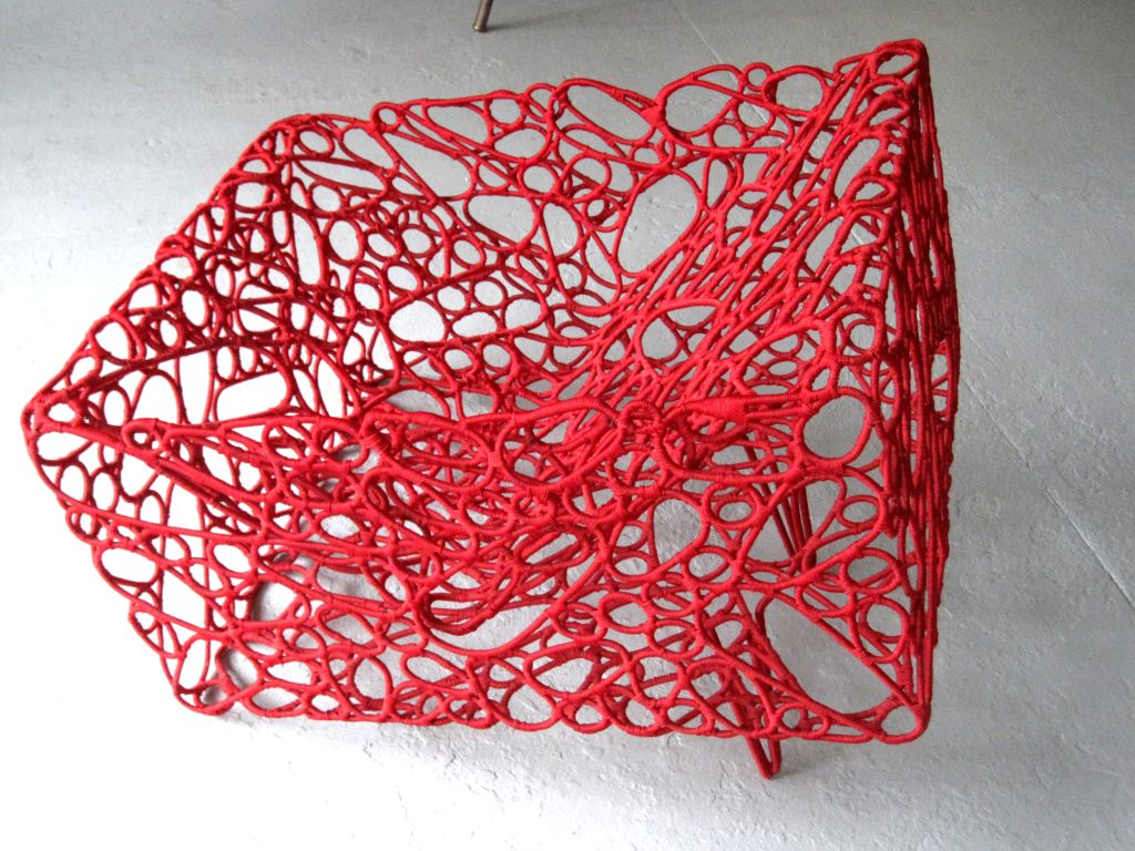 Contemporary Handwoven Artist Chair by Cheik Diallo For Sale