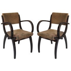 Pair of 1930's French Armchairs