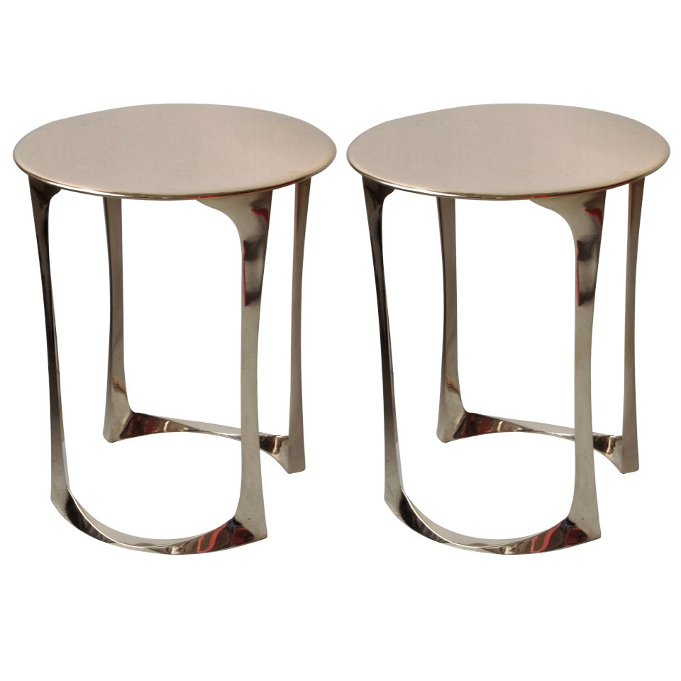 Pair of Side Tables by Anasthasia Millot