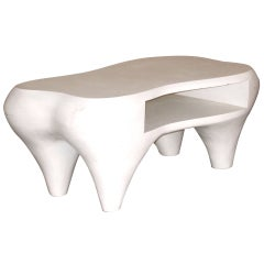 Toro Coffee Table with Open Shelf by Jacques Jarrige, 1998
