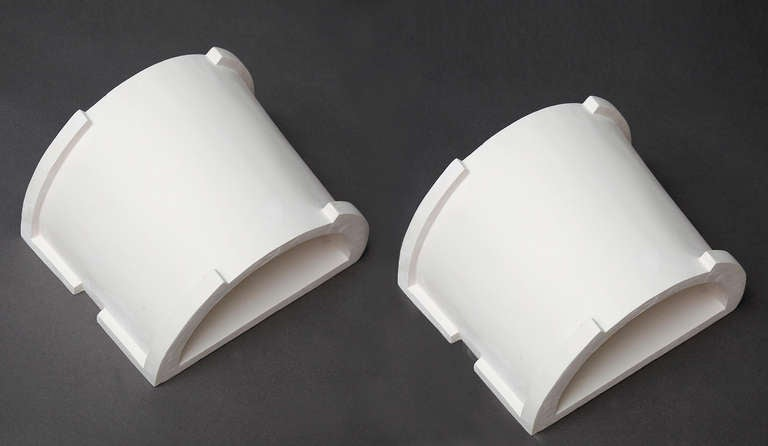 Large Plaster Sconces By Eric Schmitt For Sale At 1stdibs
