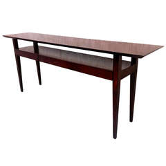 Maxime Old Very Pure Long Rosewood Console with Three Drawers