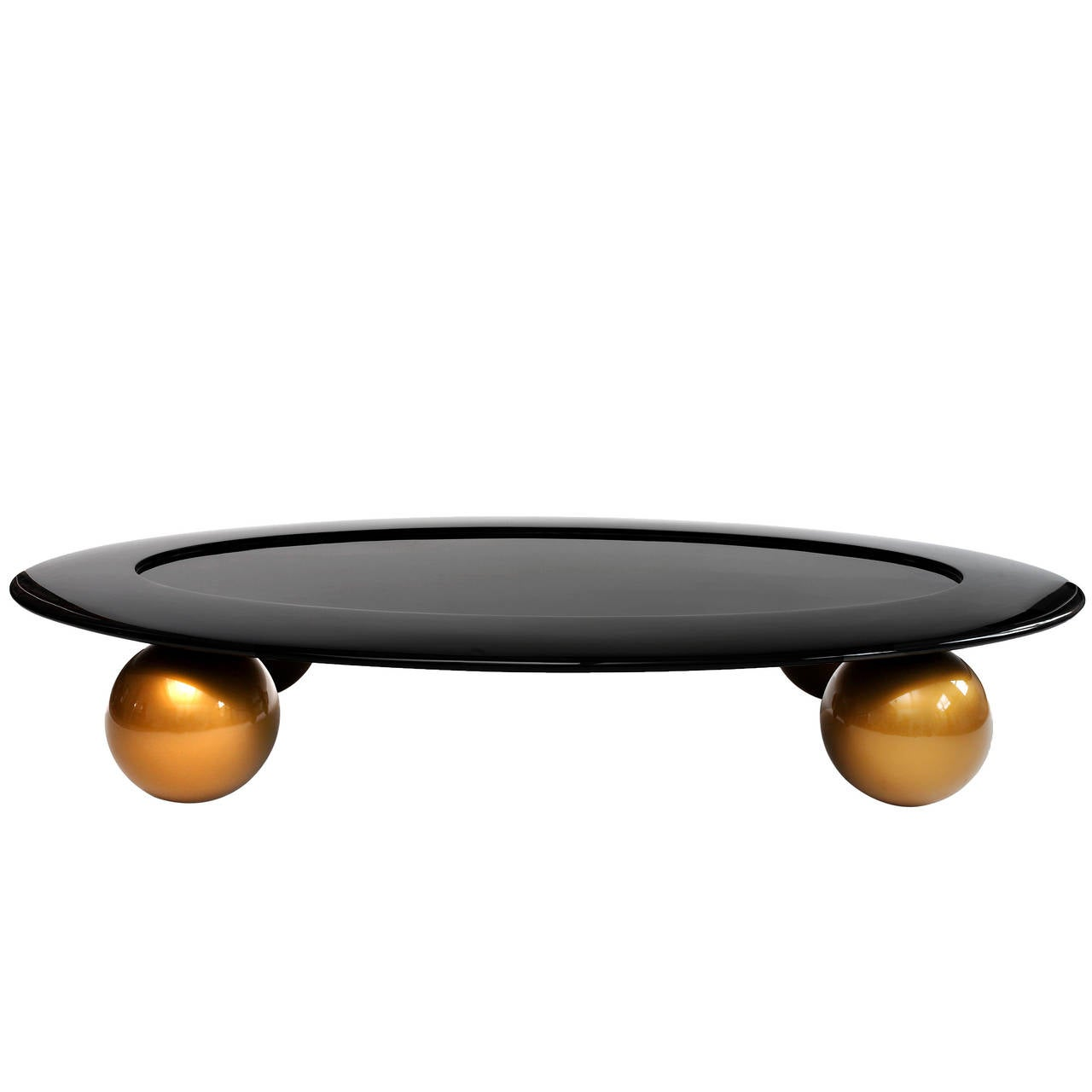 Large Oval Coffee Table By Tinatin Kilaberidze For Sale At