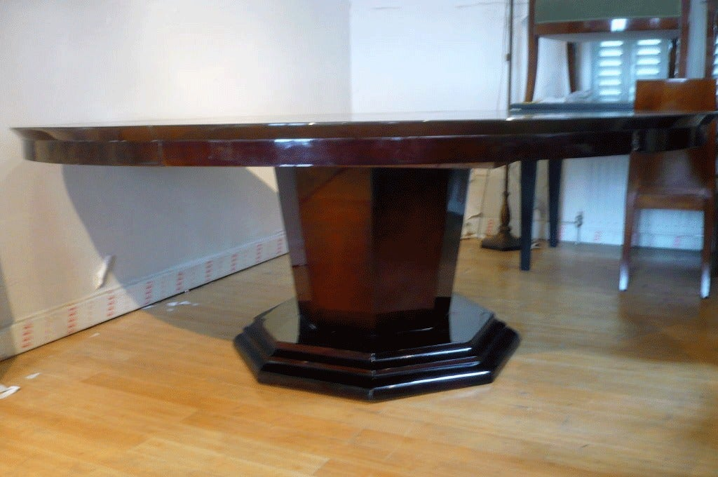 Large art deco dining table for sale at 1stdibs - Art deco dining room table ...