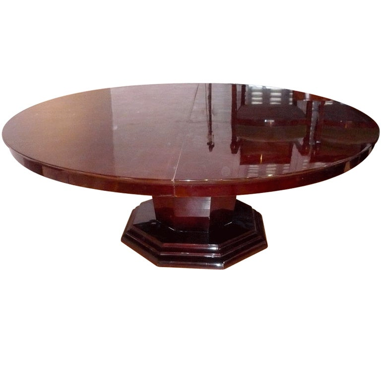 large art deco dining table for sale at 1stdibs large dining room table by baker for sale at 1stdibs