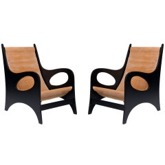 Pair of Armchairs by Jacques Jarrige