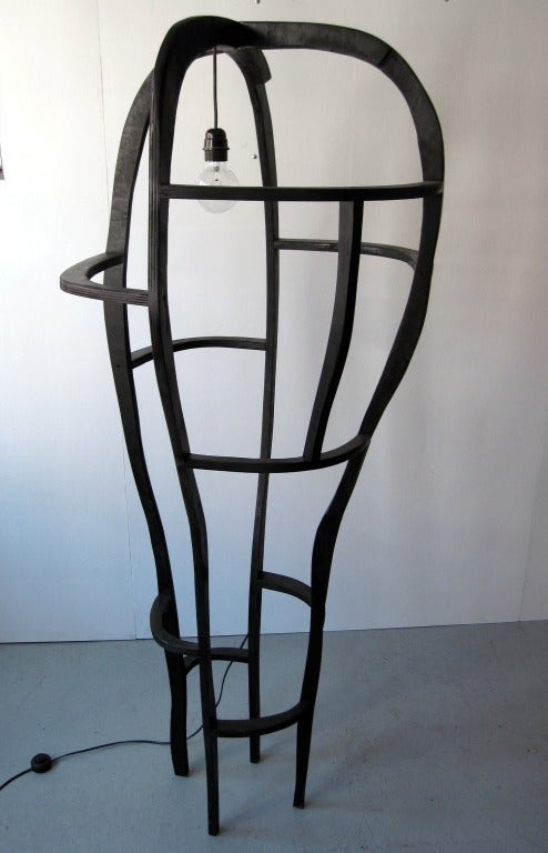 French Floor Lamp Sculpture by Jacques Jarrige ©2012 For Sale