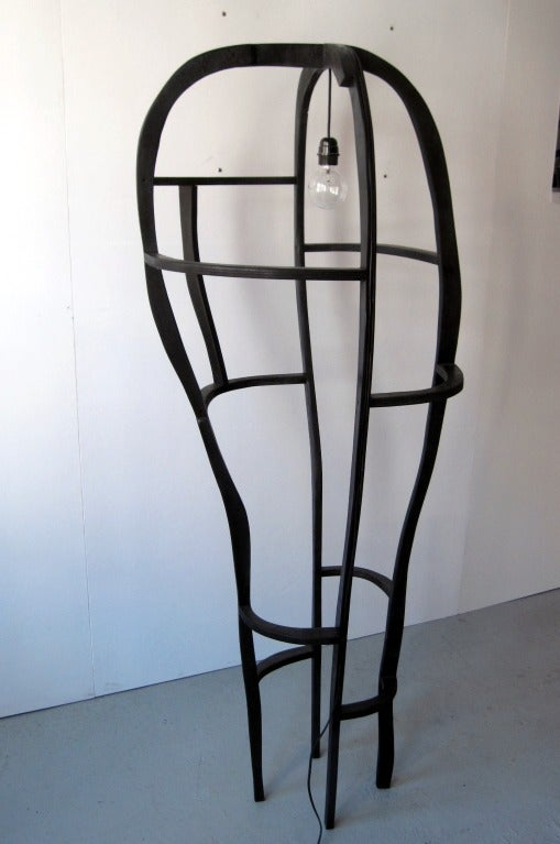 Floor Lamp Sculpture by Jacques Jarrige ©2012 In Excellent Condition For Sale In New York, NY