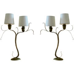 Pair of Fiori Table Lamps by Jacques Jarrige ©1998