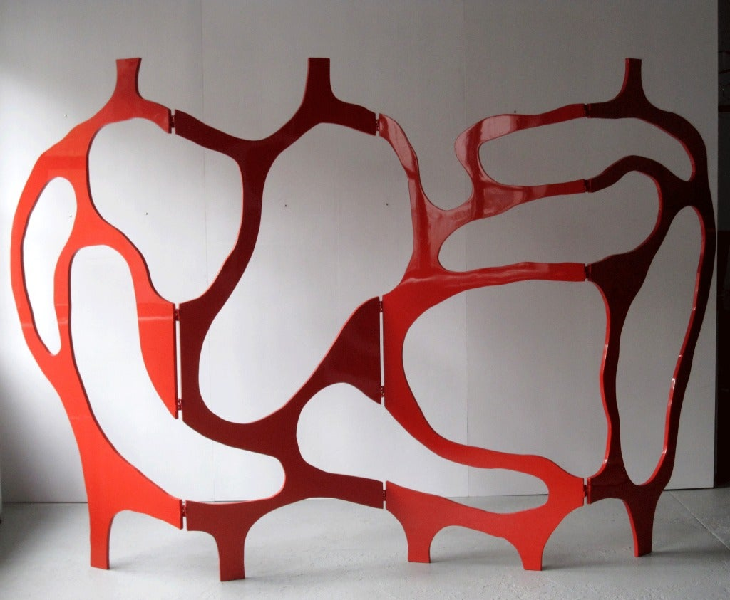 French Sculpture-Screen in Lacquer by Jacques Jarrige ©2012 For Sale