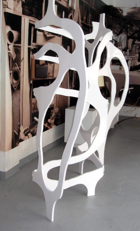 Wood Sculpture-Screen in Lacquer by Jacques Jarrige ©2012 For Sale