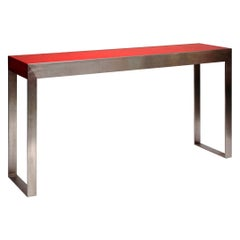 Textured Lacquered Console by French Artist Pierre Bonnefille
