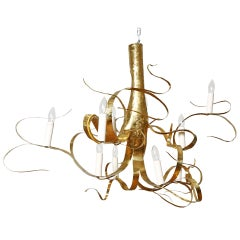 Long Fiori Chandelier by Jacques Jarrige, 1998