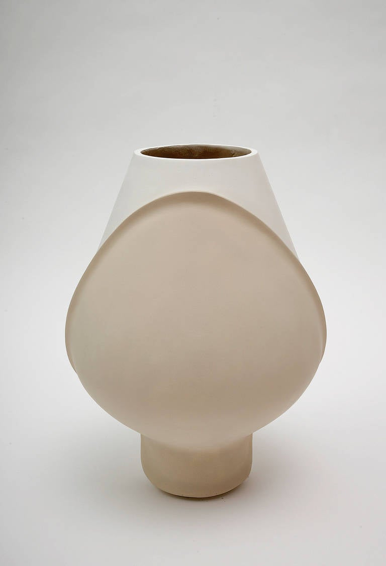 Large Ceramic Vase by Eric Schmitt For Sale 2