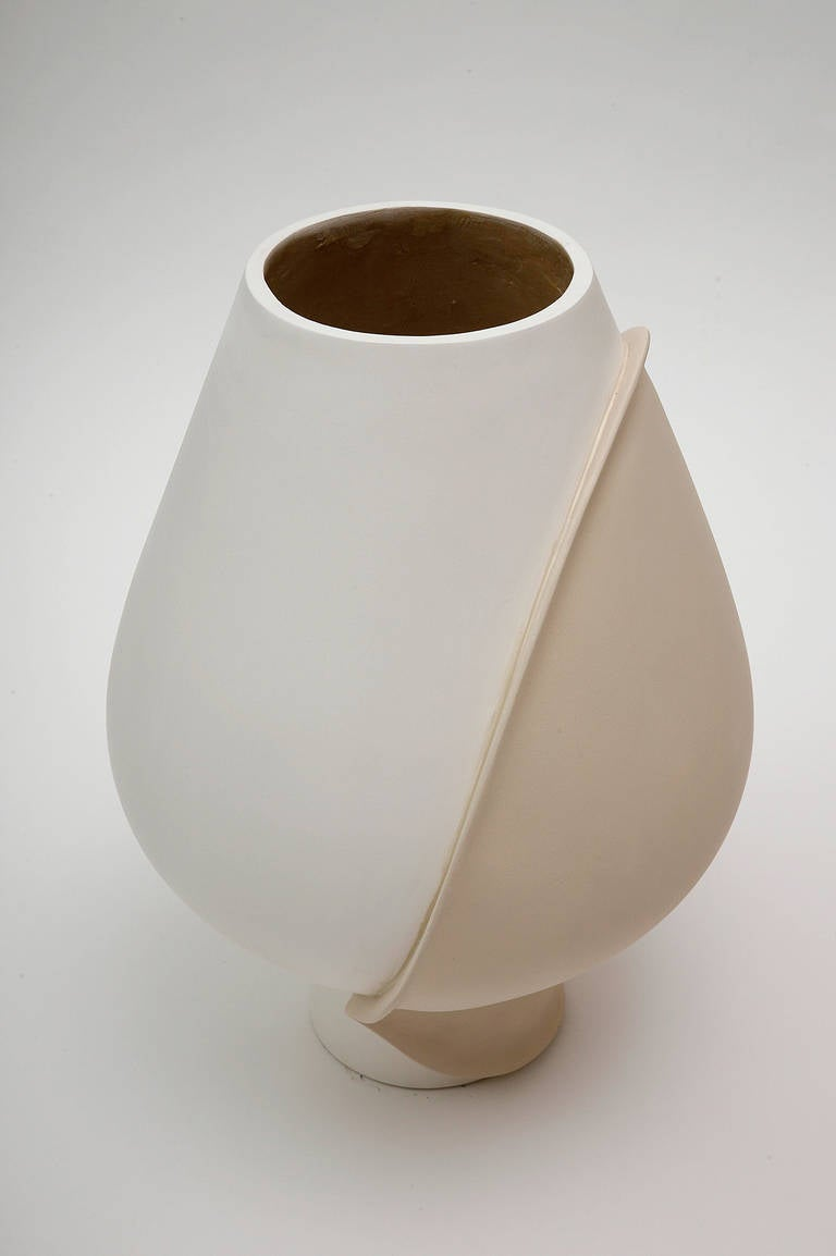 Polyester Large Ceramic Vase by Eric Schmitt For Sale