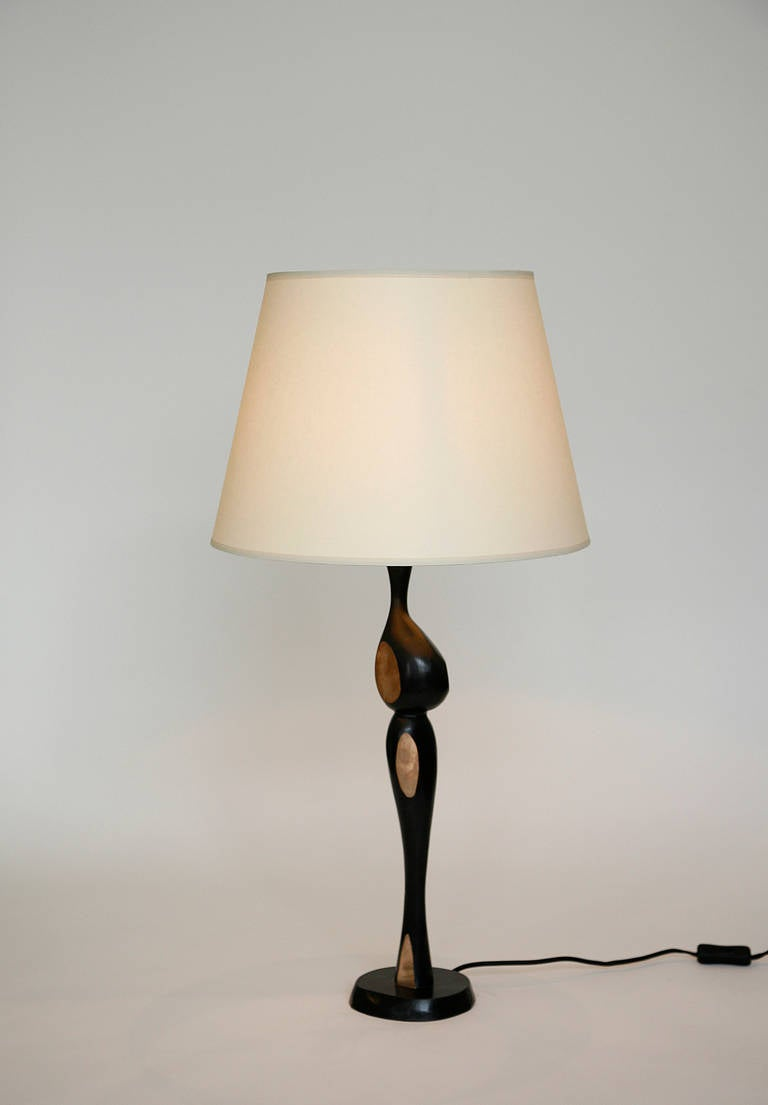 Pair of Tall Bronze Lamps by Jacques Jarrige In Excellent Condition For Sale In New York, NY
