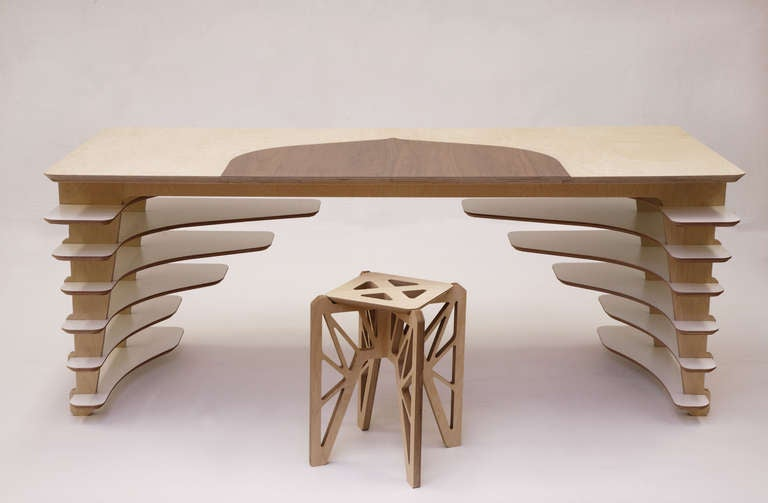 French SOW Desk by Adrien de Melo For Sale