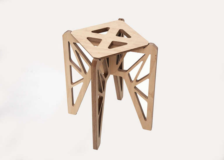 French Butterfly Stools by Adrien de Melo For Sale