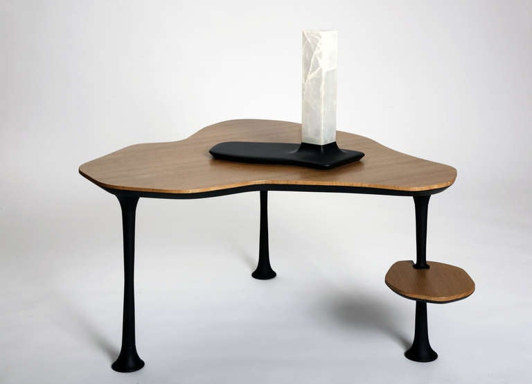 Onyx and Slate Table Lamps by Adrien de Melo In Excellent Condition For Sale In New York, NY