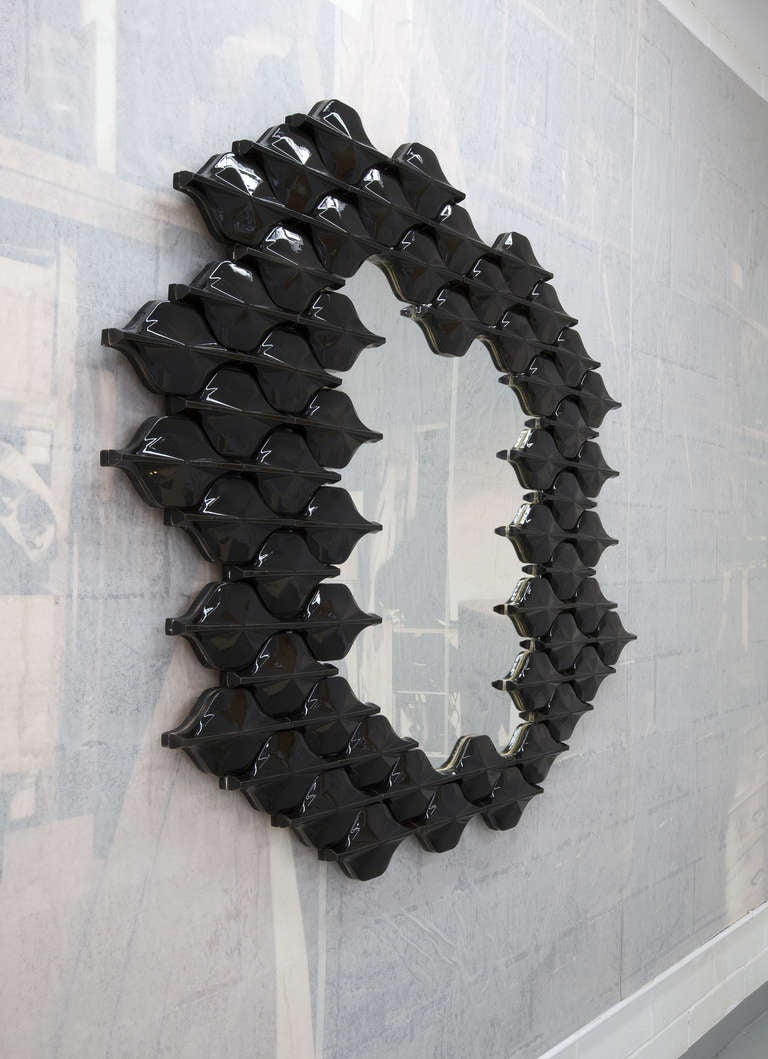 Ceramic Tiled Mirror In Excellent Condition For Sale In New York, NY